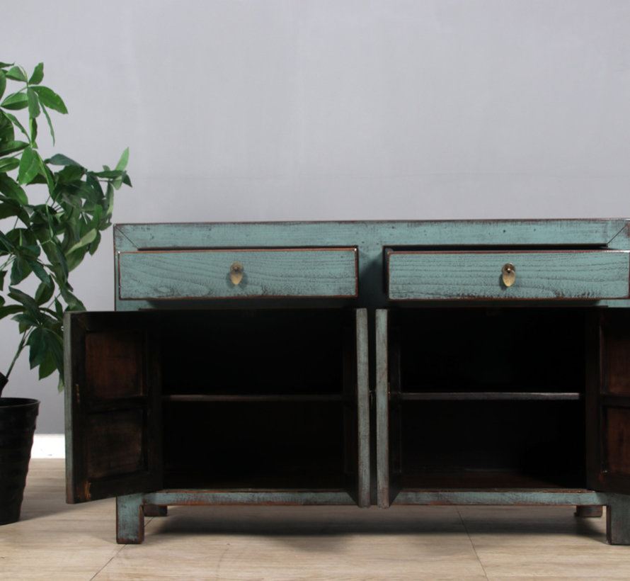 Sideboard 4 Türen 2 Schubladen langer Vorratsschrank used mint
