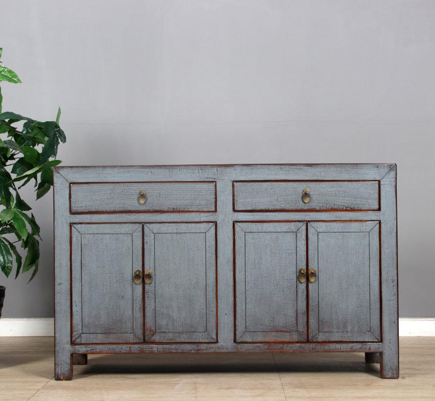 Sideboard 4 doors 2  drawers long storage cabinet used gray