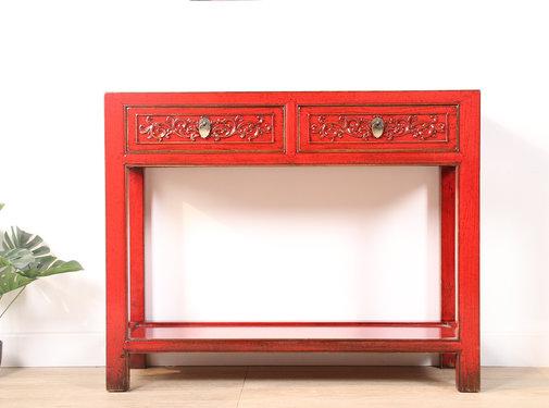 Yajutang Konsolentisch aus massivem Holz rot