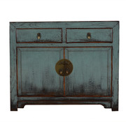 Yajutang Antique chest of drawers 2 doors gray