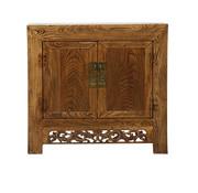 Yajutang Antique chest of drawers 2 doors natural wood