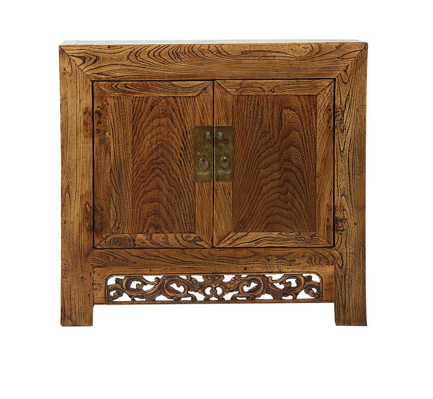 Antike Kommode aus China 2 Türen Naturholz