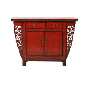 Yajutang Antique chest of drawers 2 doors 2 drawers red