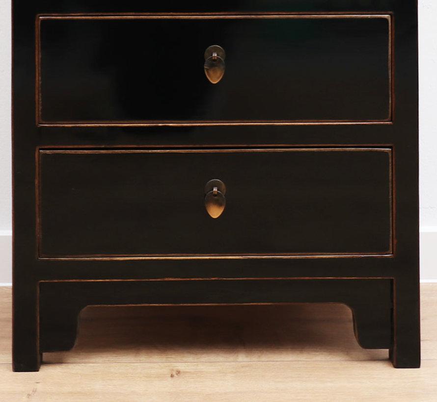 chinesische Kommode Orientalisch/Asiatisch Stil schwarz 5 Schublade