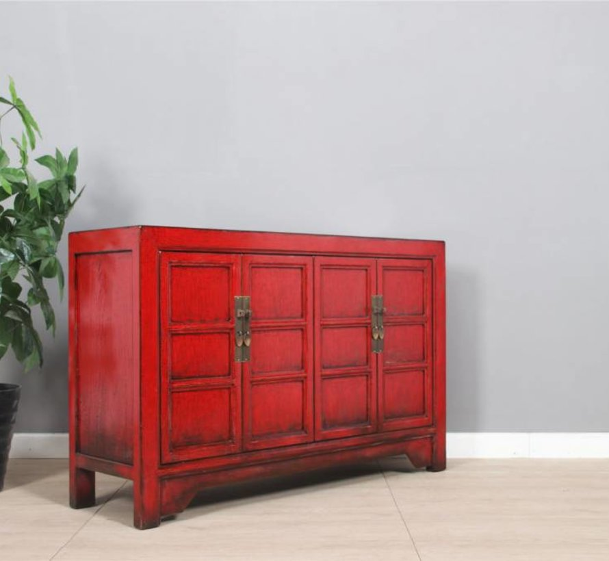 Wunderschönes Sideboard Doppeltüren antik used china rot