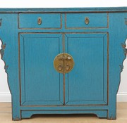 Yajutang Antique chest of drawers 2 doors blue