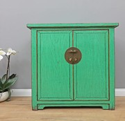 Yajutang Antique chest of drawers 2 doors green