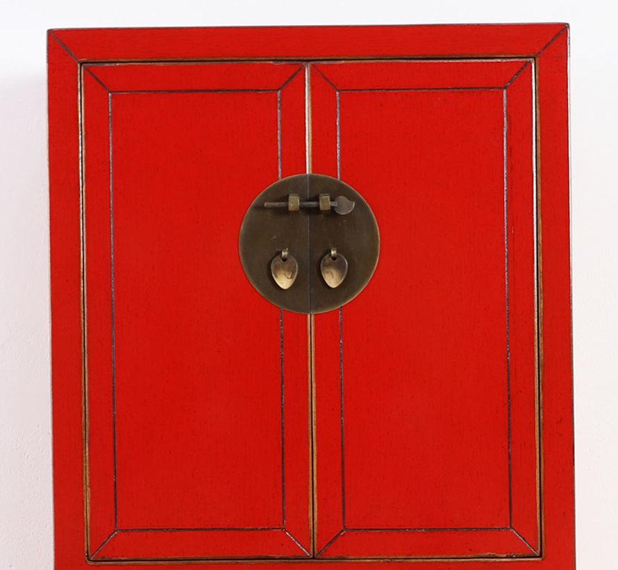 chinesische Kommode Sideboard 2 Schublade 2 Türen rot
