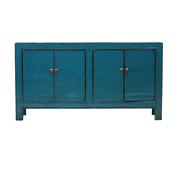 Yajutang Antikes Sideboard 4 Türen blau