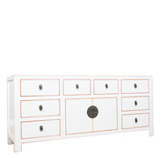 Yajutang Sideboard 2 doors 8 drawers white