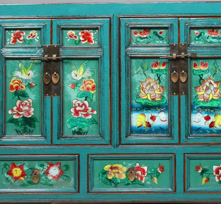 Sideboard mit Bemalung auf Glas Gansu Province west china rustikal