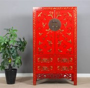 Yajutang Cabinet hand gilt painting red