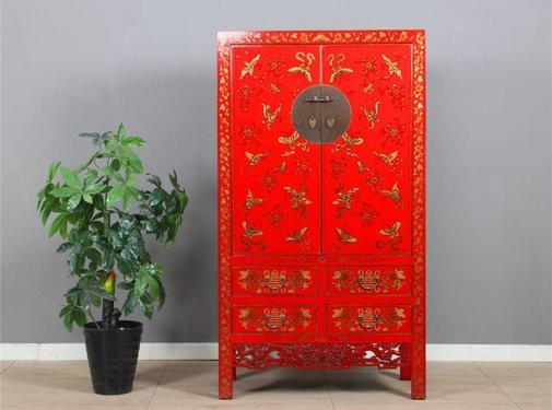 Yajutang Cabinet hand gilt painting red