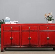 Yajutang Sideboard 6 doors 3 drawers red