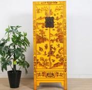 Yajutang Hochzeitschrank 2 Türen 1 Schublade gelb