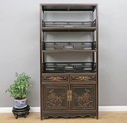Yajutang Shelf Chinese chest of drawers black
