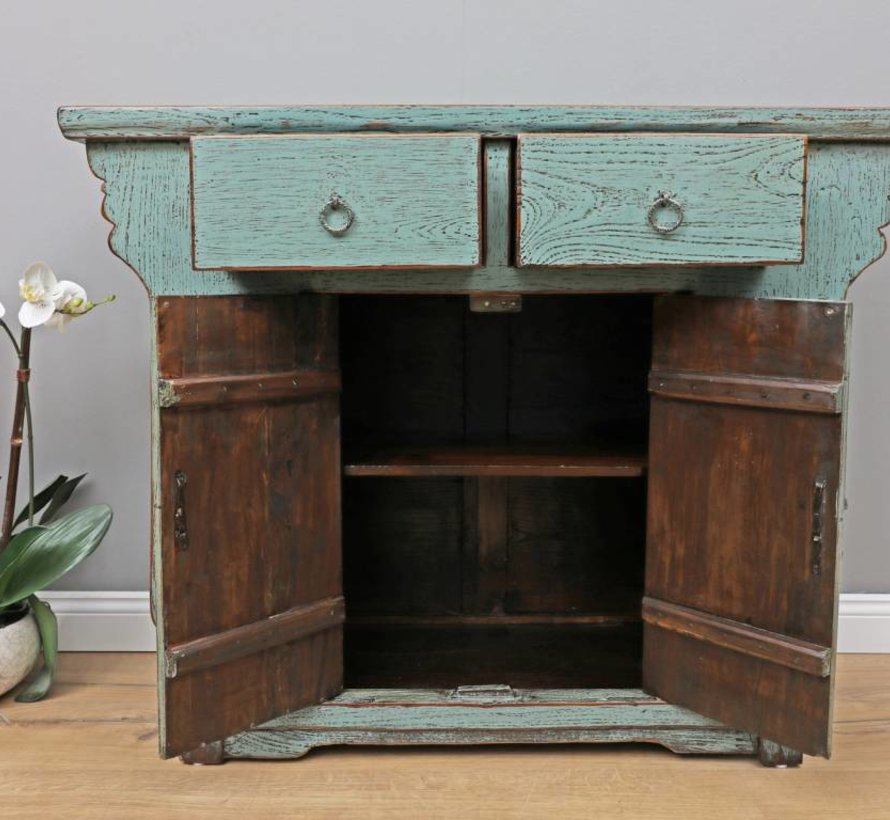 Antike chinesische Kommode Sideboard 2 Türen 2 Schubladen