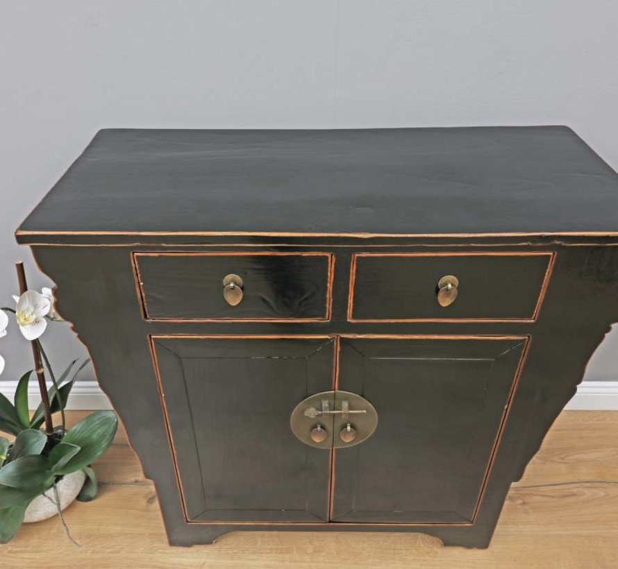 Antique Chinese dresser sideboard 2 doors 2 drawers