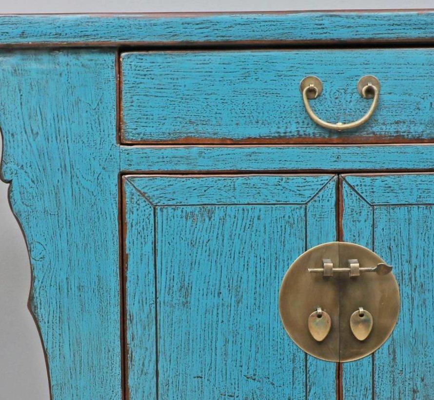 Antike chinesische Kommode Sideboard 2 Türen 1 Schublade