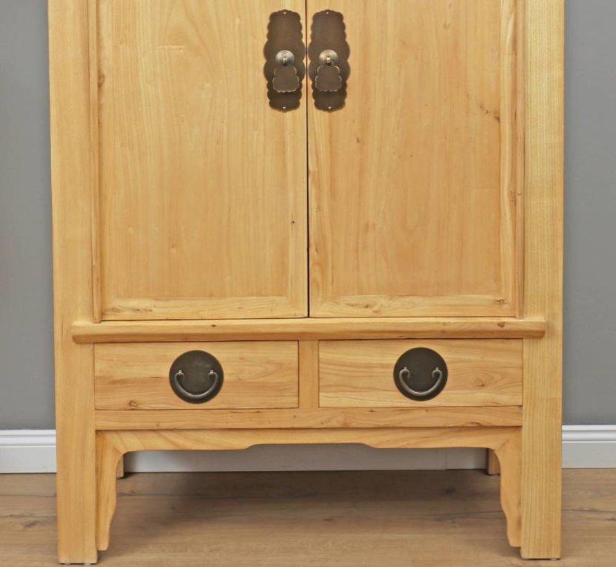 Chinese wedding cupboard 2 doors 2 drawers nature