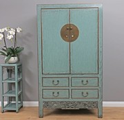 Yajutang Antique wedding cabinet 2 doors gray