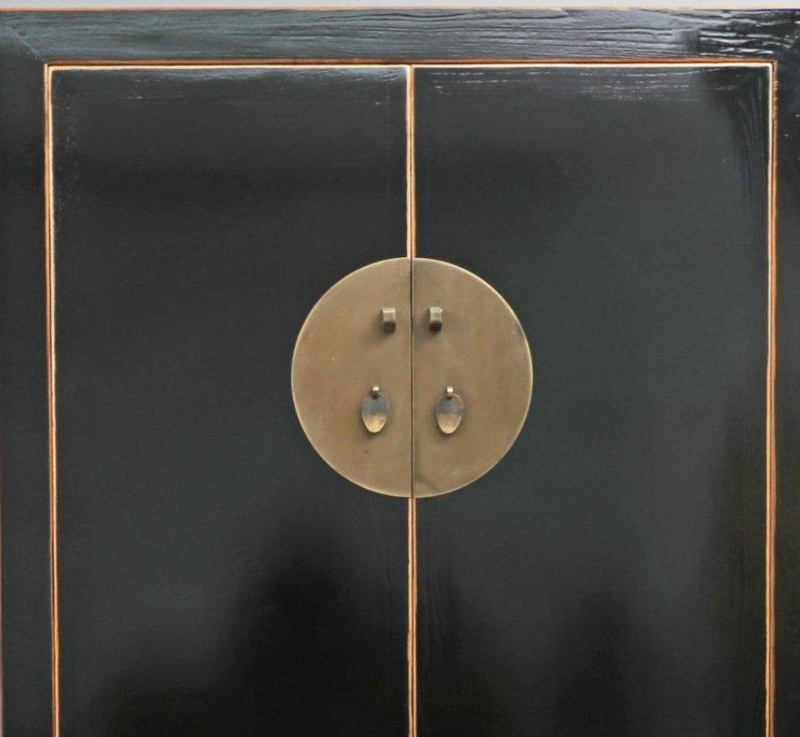 Antique cabinet wedding cabinet 2 doors 4 drawers black