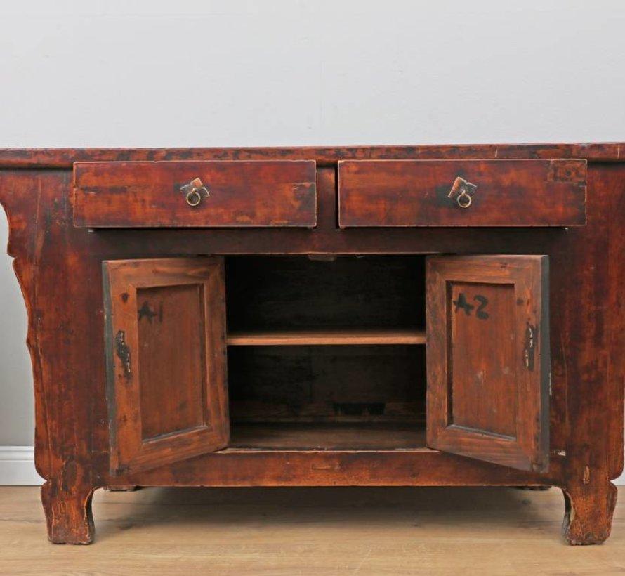 Antikes Sideboard Fernsehtisch Kommode 2 Türen 2 Schubladen