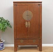 Yajutang Chinese Wedding Cabinet 2 Doors 2 drawers brown