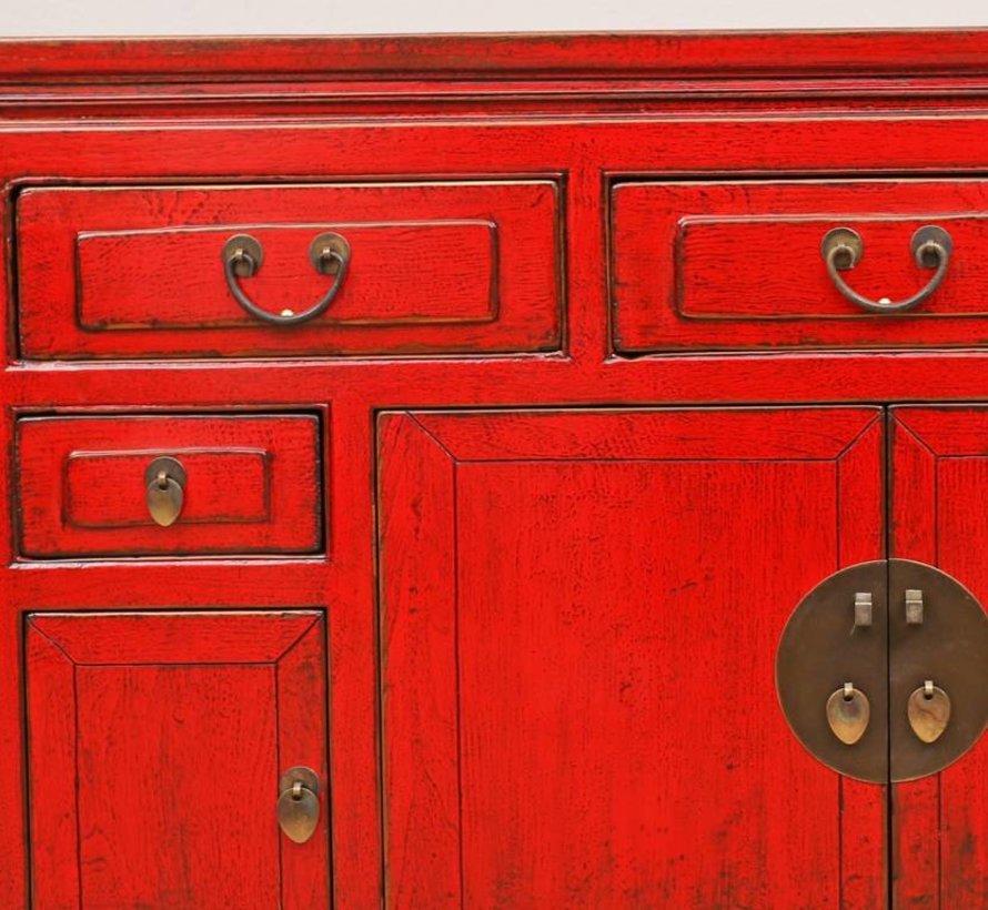 Antikes Sideboard Fernsehtisch Kommode 4 Türen 5 Schubladen