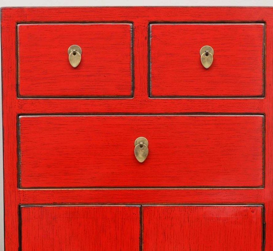 Chinese dresser sideboard 3 Schubladen 2 doors red