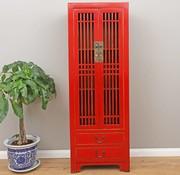 Yajutang Küchenranker Wohnzimerschrank rot