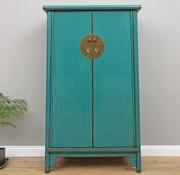 Yajutang Chinese Wedding Cabinet 2 Doors  turquoise