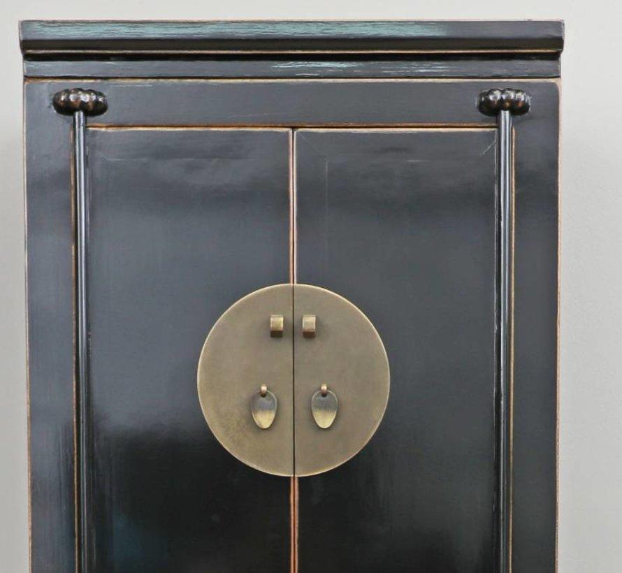 Chinese wedding cabinet solid wood wardrobe black