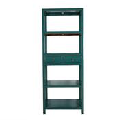 Yajutang Chinese shelf 2 drawers turquoise