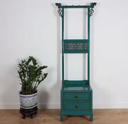 Yajutang Clothes rack shelf 2 drawers turquoise