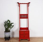 Yajutang Clothes rack shelf 2 drawers red