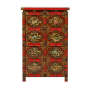 Yajutang hand-painted chest of drawers 4x double doors