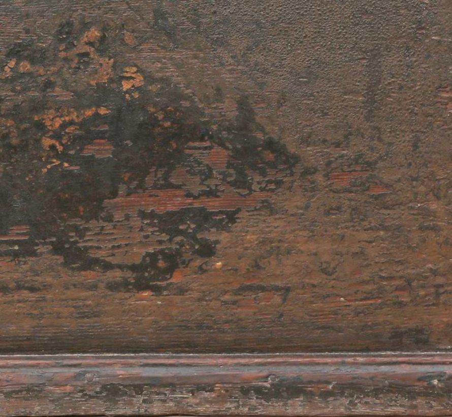 Antike  chinesische Truhe China Möbel schwarz