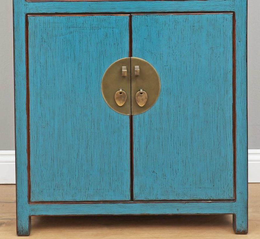 Chinese dresser sideboard 4 Schubladen 2 doors blue