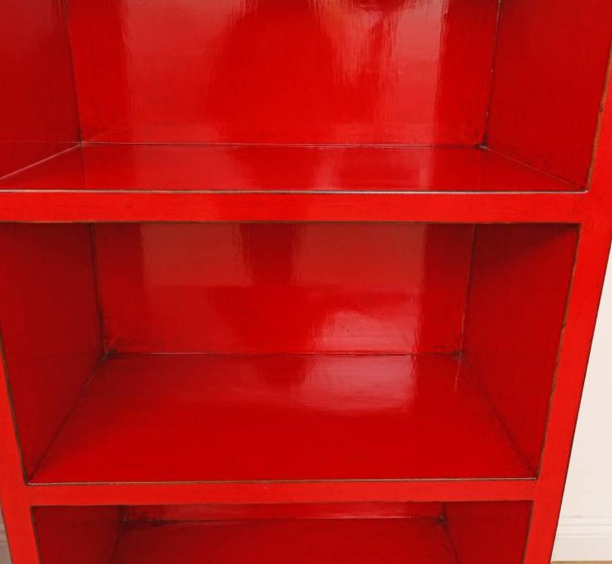 Shelf Chinese dresser cabinet solid wood China red