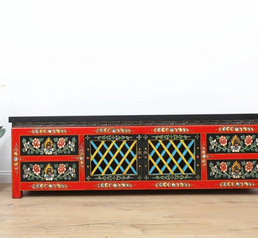 Sideboard, tibetischer Stil, Handarbeit & handbemalt