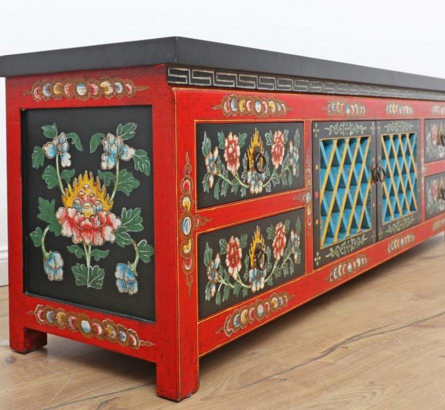 Sideboard, Tibetan style, handmade & handpainted