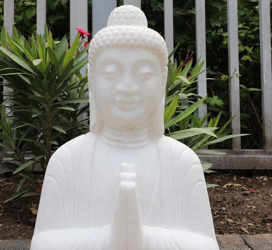 Stein-Buddha Shakyamuni Siddhartha Gautama für Garten und Balkon