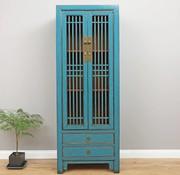 Yajutang Chinese Wedding Cabinet 2 Doors 2  Drawers blue
