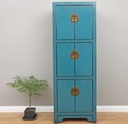 Yajutang Chinesischer Hochzeitschrank 6 Türen blau