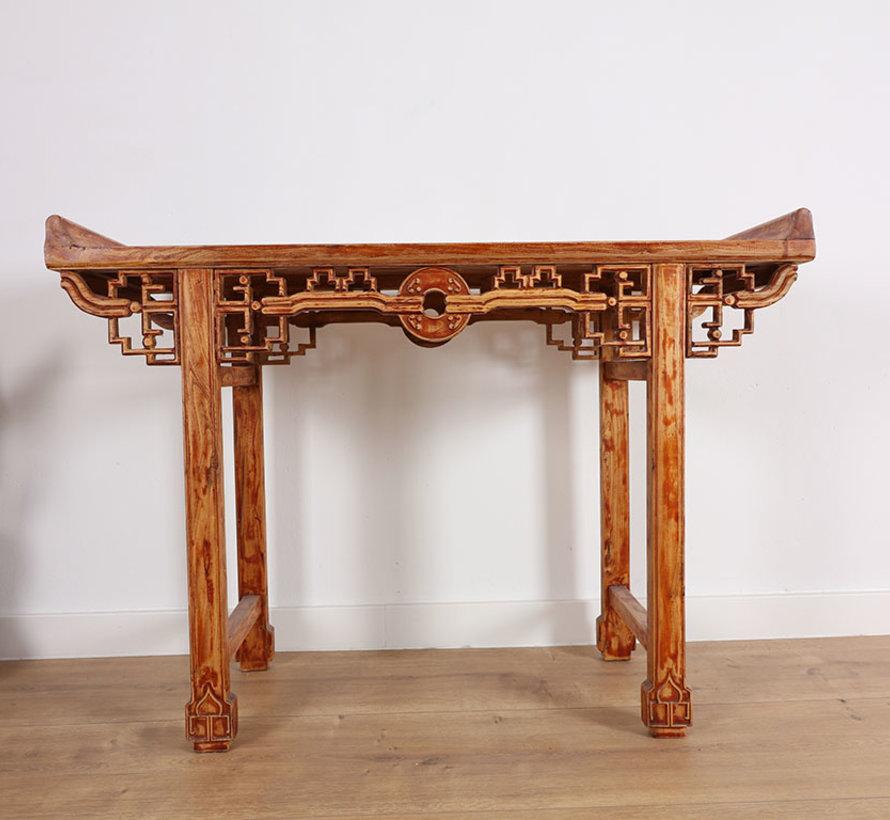 Chinesischer Tisch Massivholz China Beistelltisch Teetisch