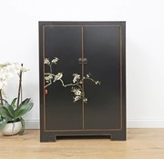 Yajutang Shoe cabinet hand-painted pattern black