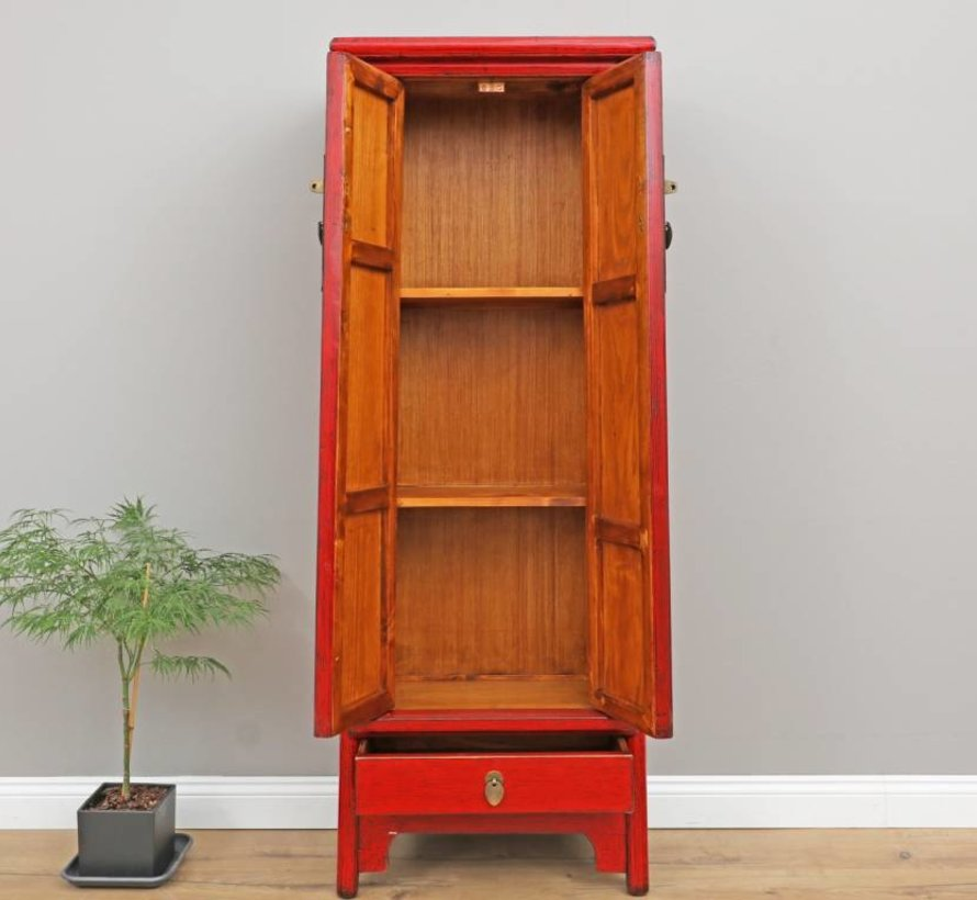 Chinese wedding cabinet solid wood red 2 door