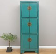 Yajutang Chinese wedding cupboard 6 doors turquoise