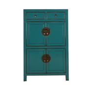 Yajutang Chinese dresser cupboard 4 doors turquoise